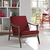 Pacific Armchair Walnut Red
