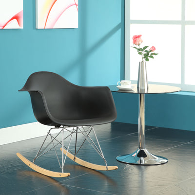 Rocking Lounge Chair Black