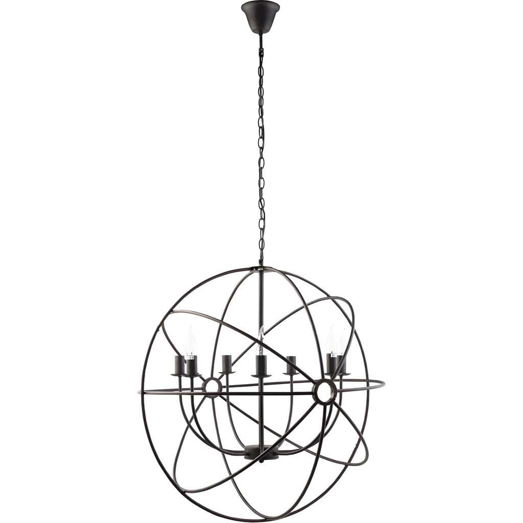 "Atomic 29.5"" Chandelier Black"