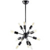 Space Metal Chandelier Black