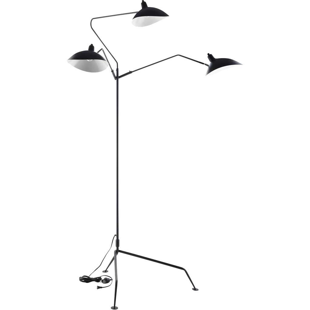 Vision Stainless Steel Floor Lamp Black