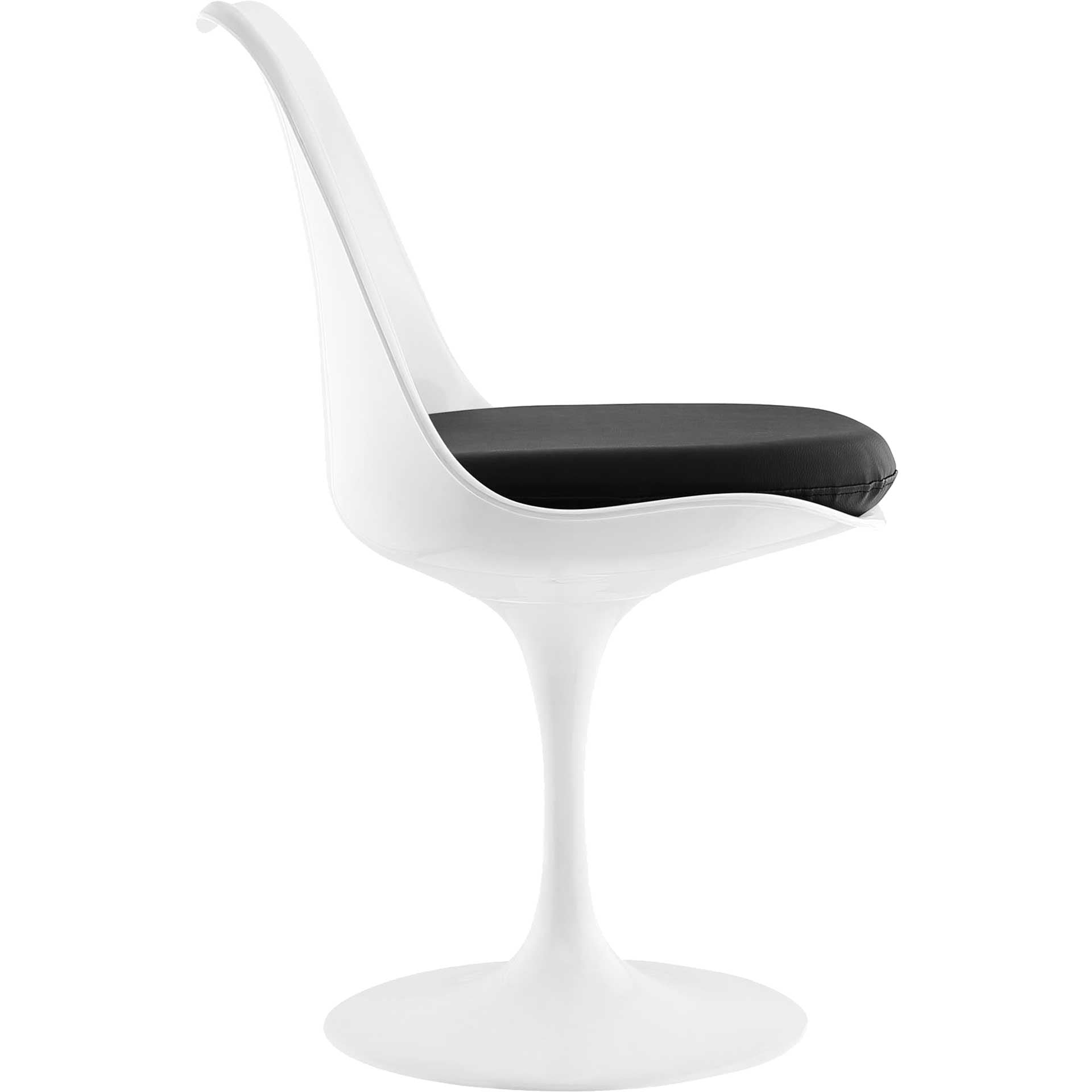 Lore Dining Vinyl Side Chair Black