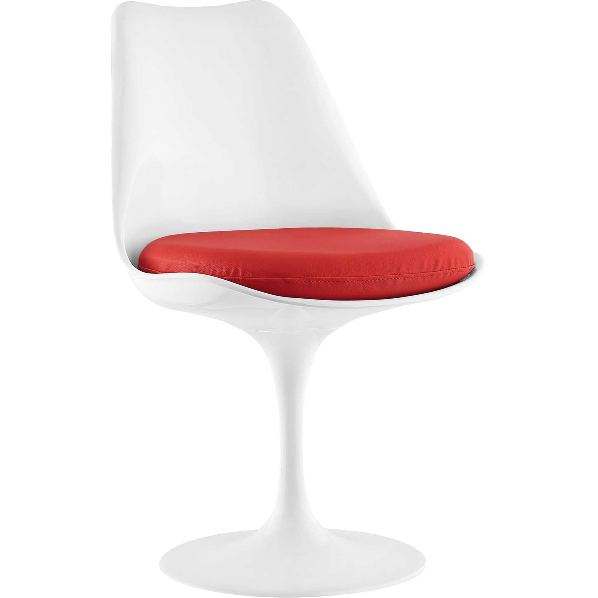 Lore Dining Vinyl Side Chair Red