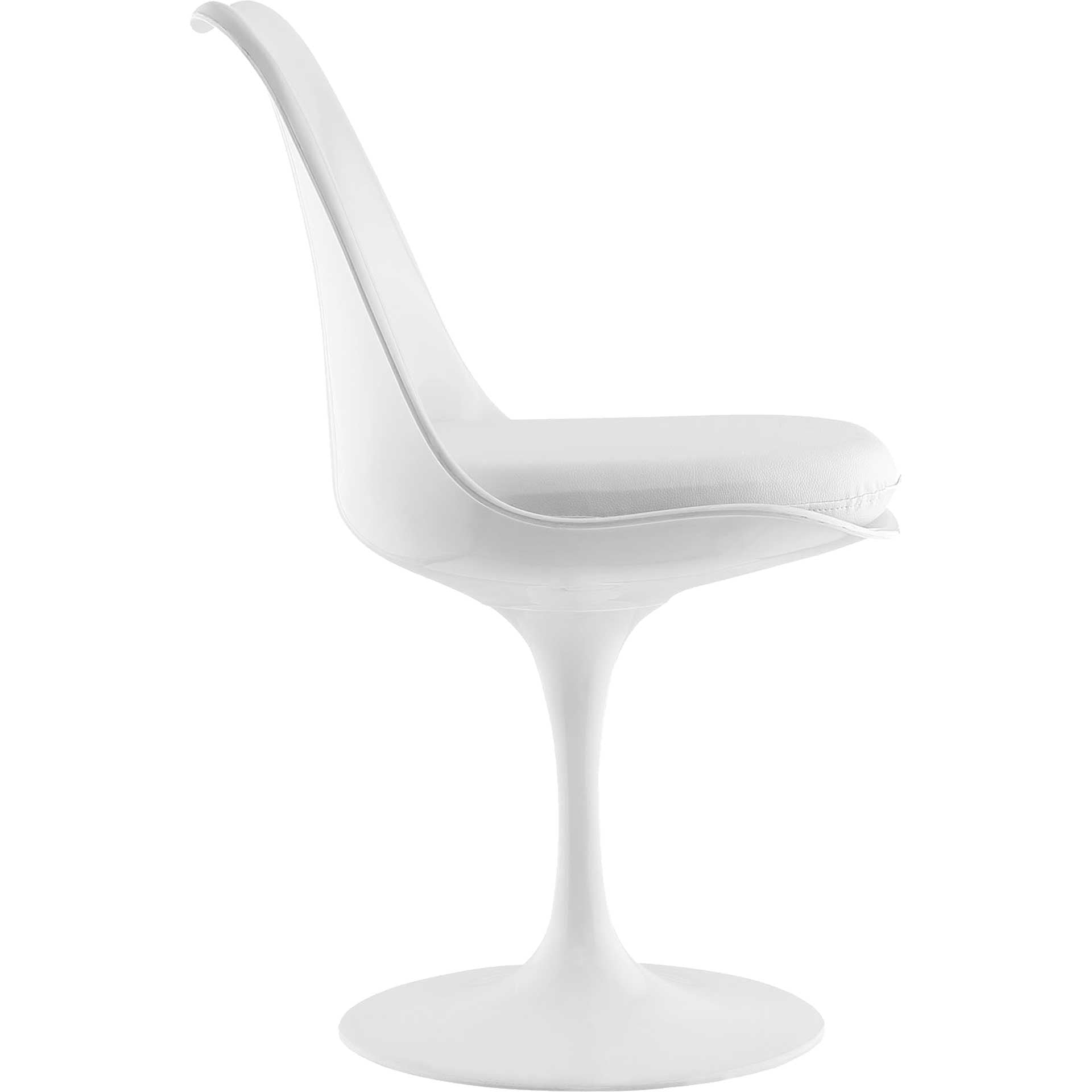Lore Dining Vinyl Side Chair White