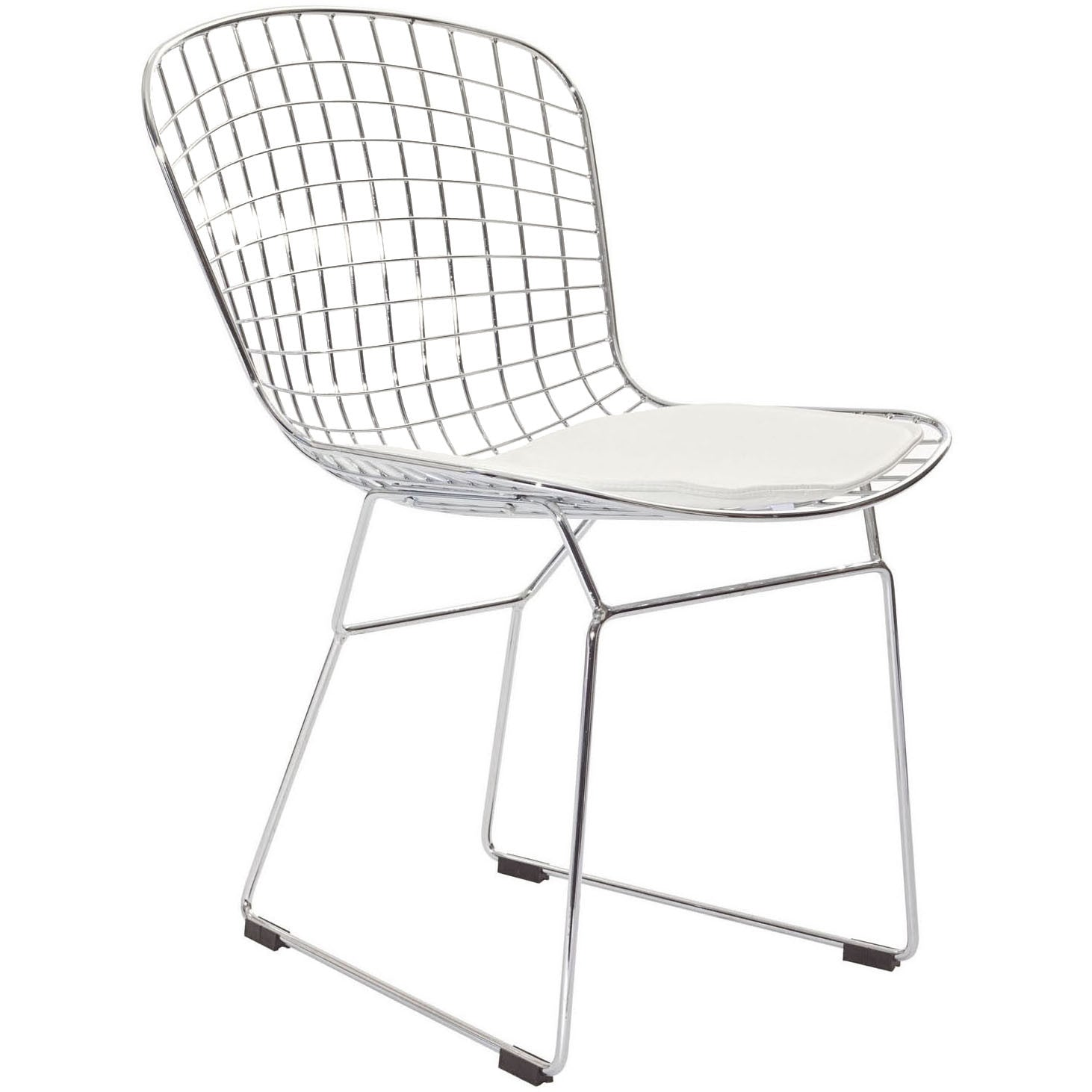 Cross Side Chair White