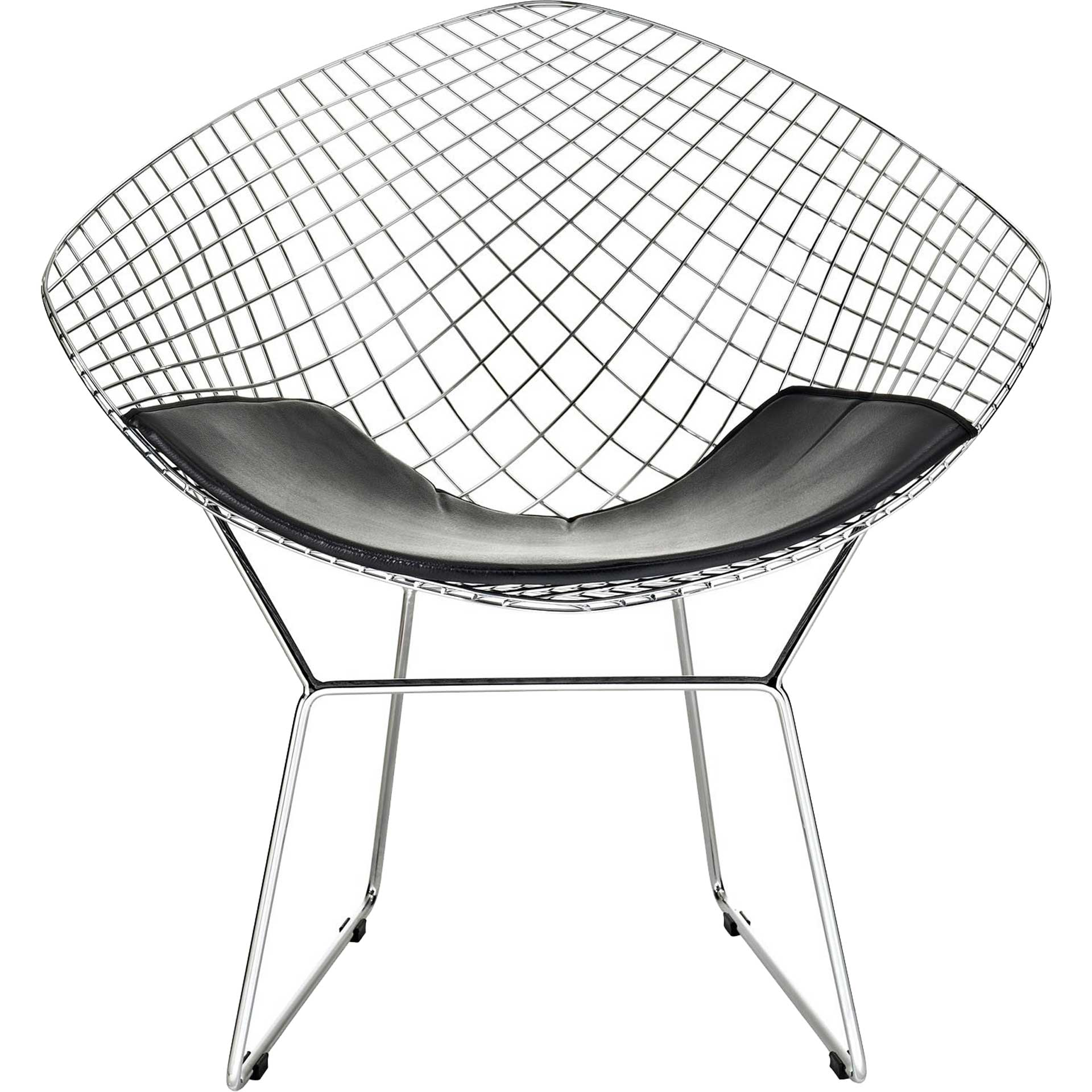 Cross Lounge Chair Black