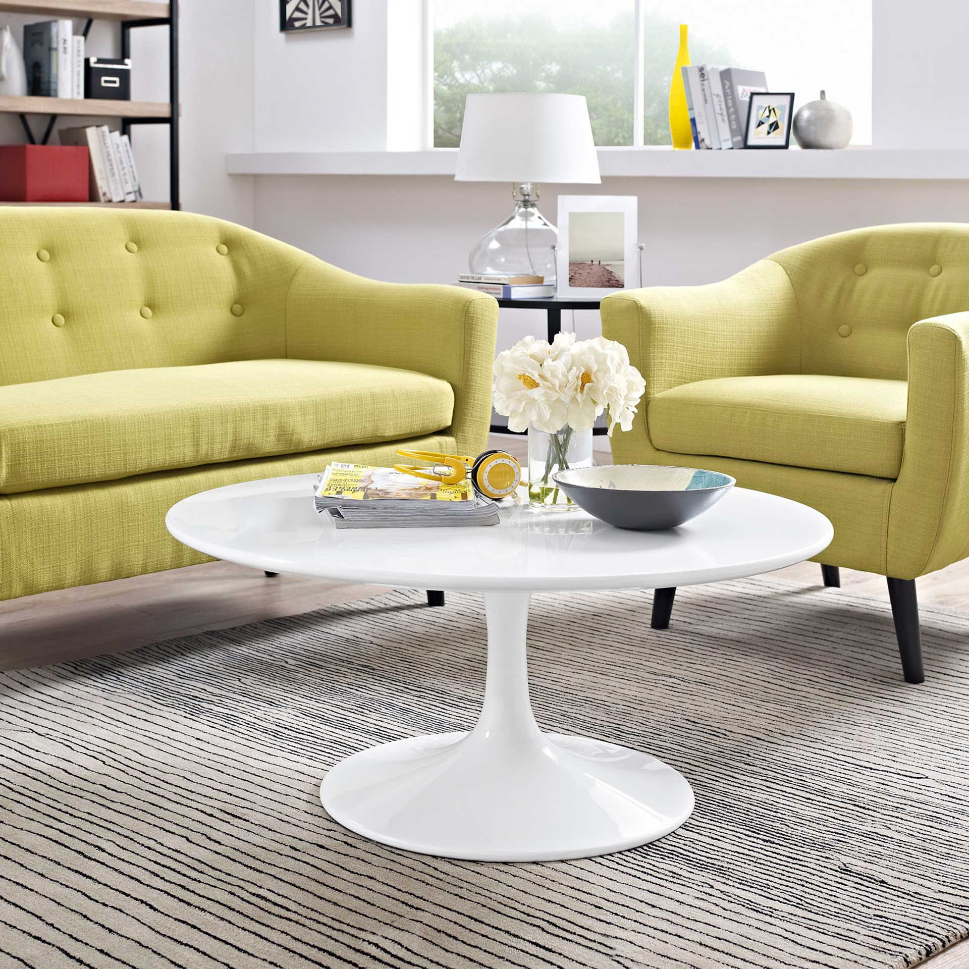 Lore Round Coffee Table White