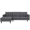 Era Upholstered Sectional Sofa Gray