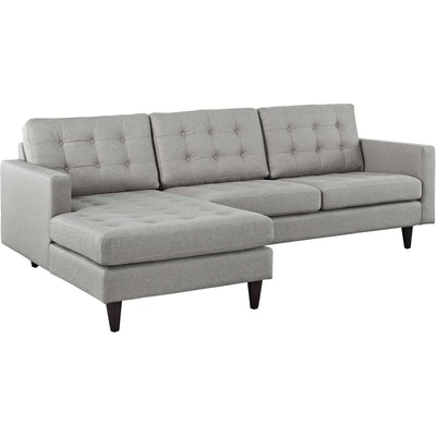 Era Upholstered Sectional Sofa Light Gray