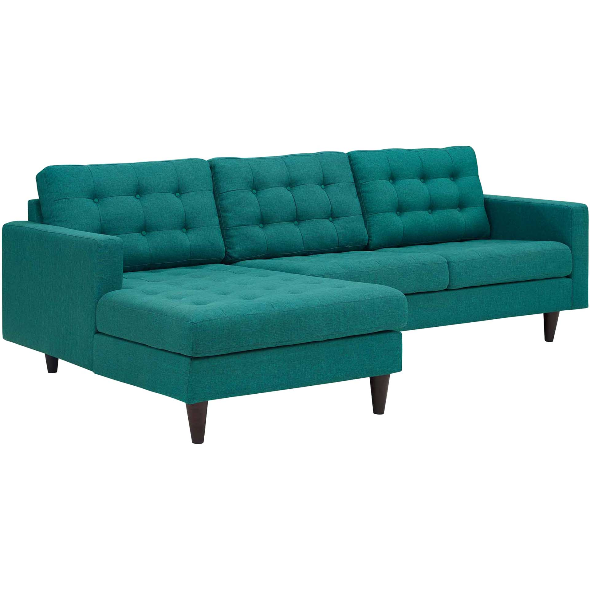 Era Upholstered Sectional Sofa Teal