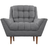 Reborn Fabric Armchair Gray