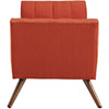 Reborn Medium Fabric Ottoman Atomic Red