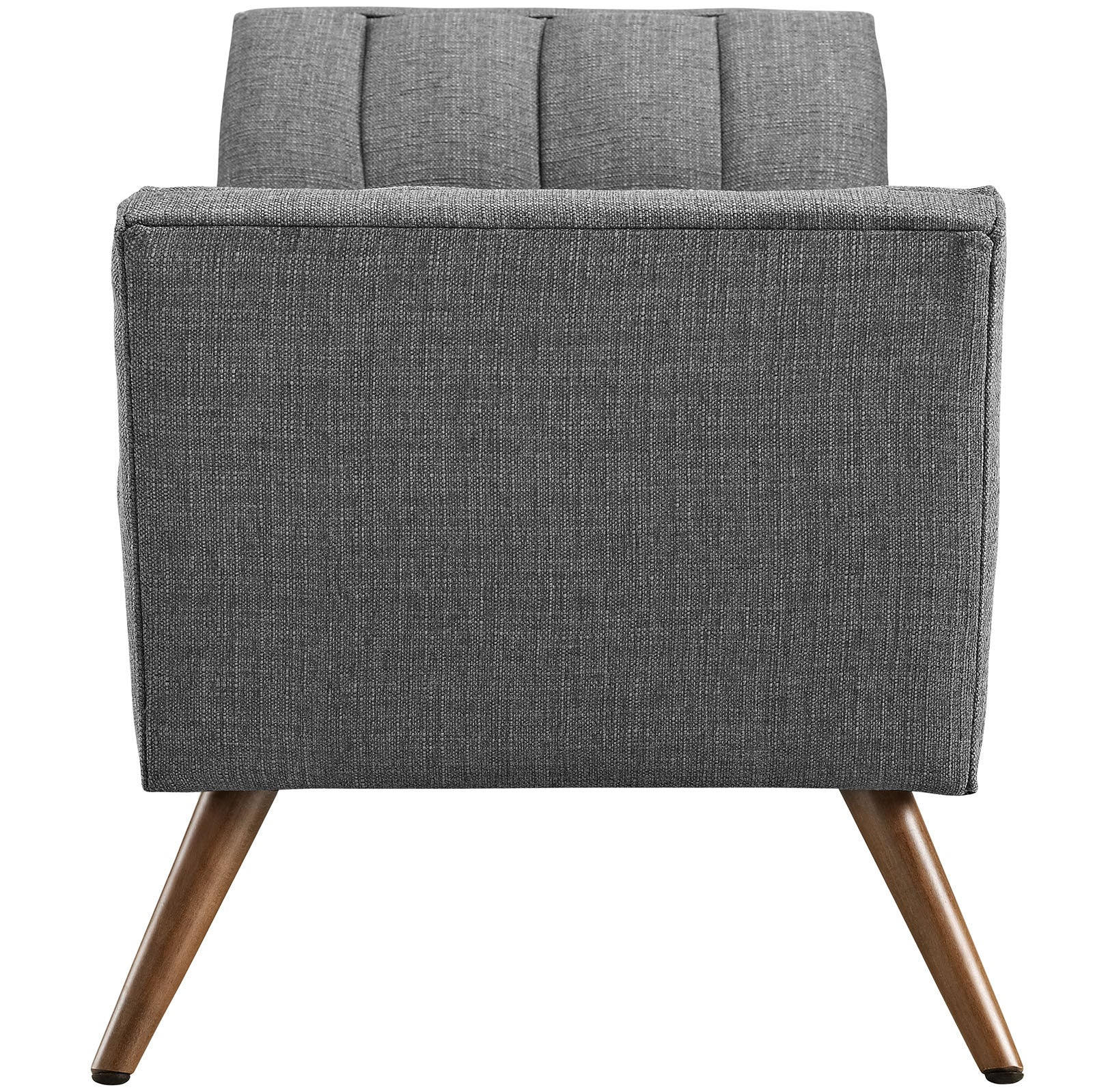 Reborn Medium Fabric Ottoman Gray