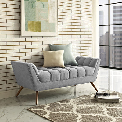 Reborn Medium Fabric Ottoman Expectation Gray