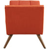 Reborn Fabric Short Ottoman Atomic Red