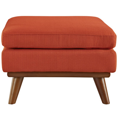 Emory Fabric Ottoman Atomic Red