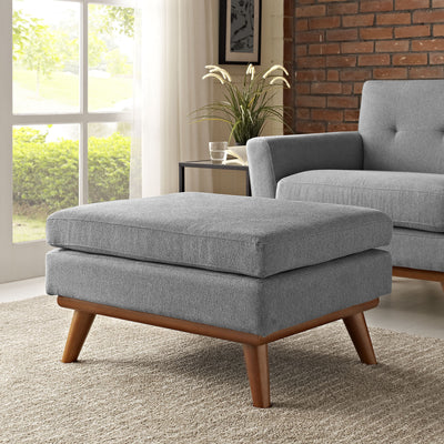 Emory Fabric Ottoman Expectation Gray