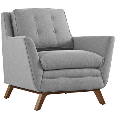 Beowulf Fabric Armchair Expectation Gray