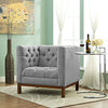 Paramour Fabric Armchair Expectation Gray