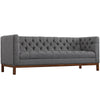 Paramour Fabric Sofa Gray