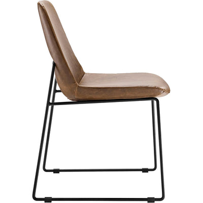 Invitation Dining Vinyl Side Chair Brown