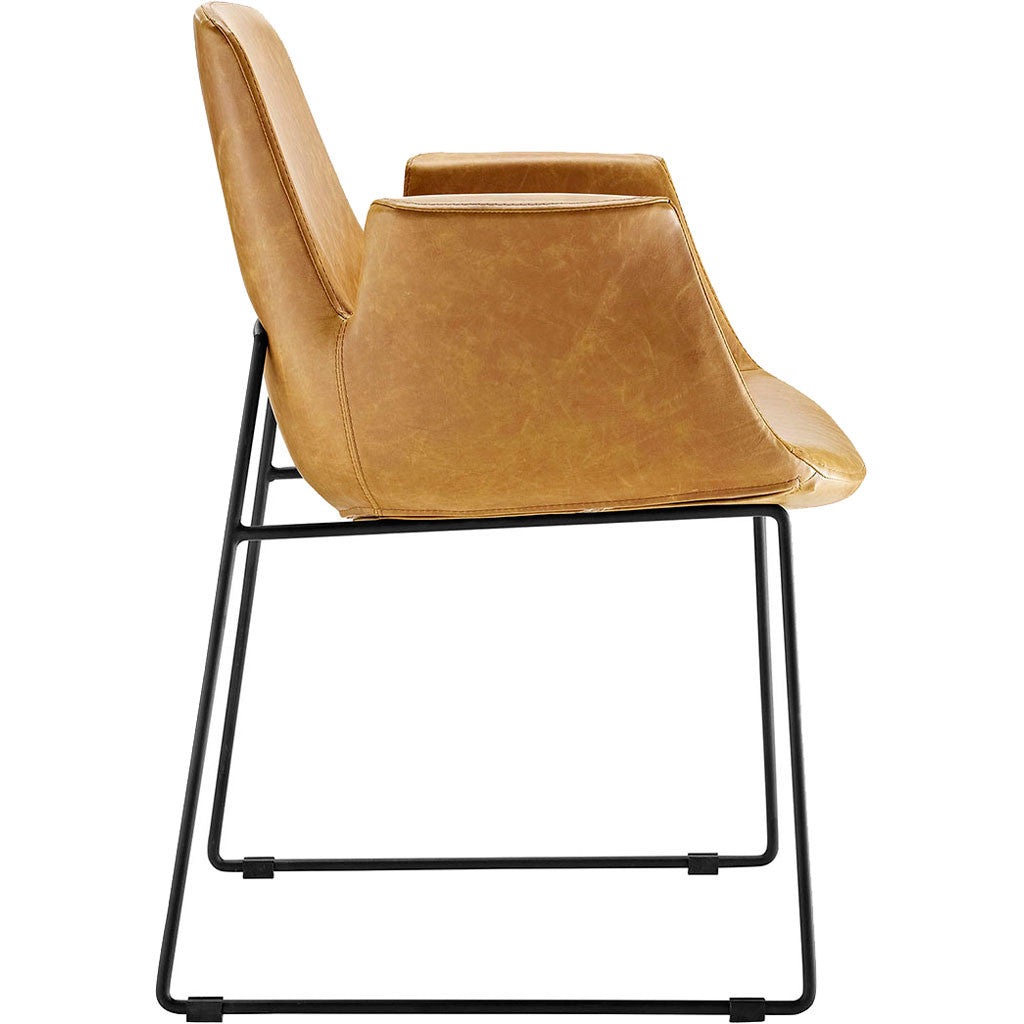 Attention Dining Leather Armchair Tan
