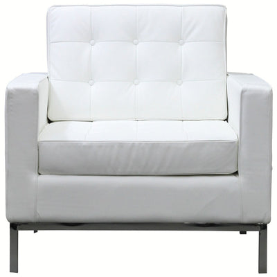 Lyte Leather Armchair White