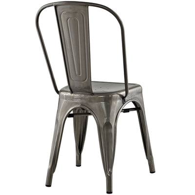 Panora Side Chair Gunmetal