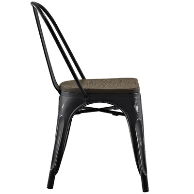 Panora Bamboo Side Chair Black
