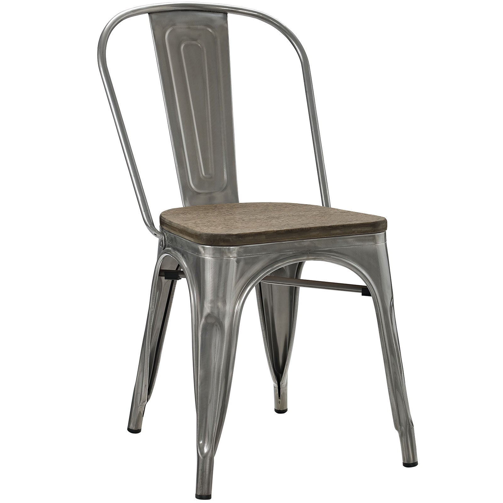 Panora Bamboo Side Chair Gunmetal