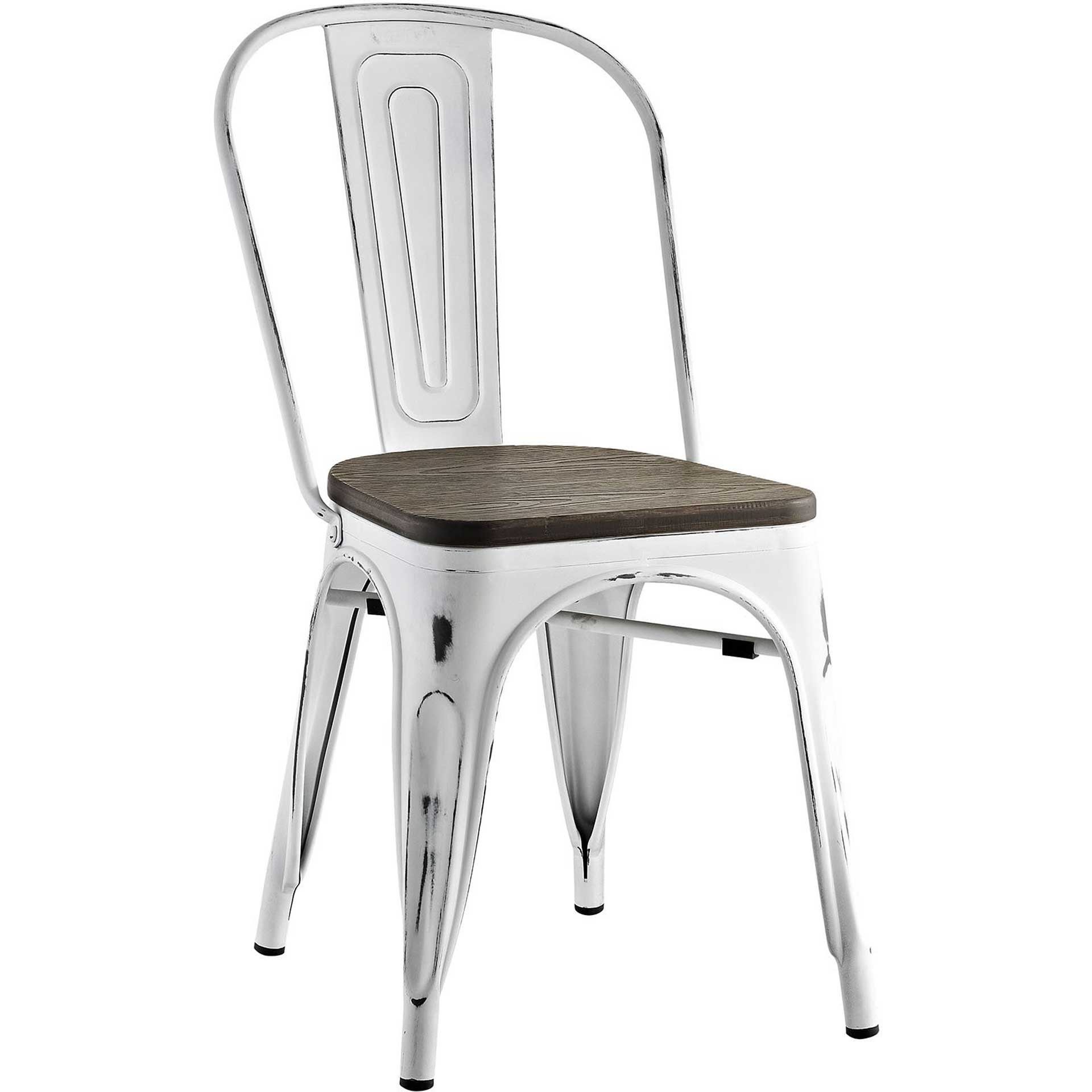 Panora Bamboo Side Chair White