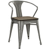 Panora Bamboo Dining Chair Gunmetal
