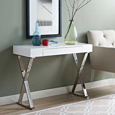 Section Console Table White