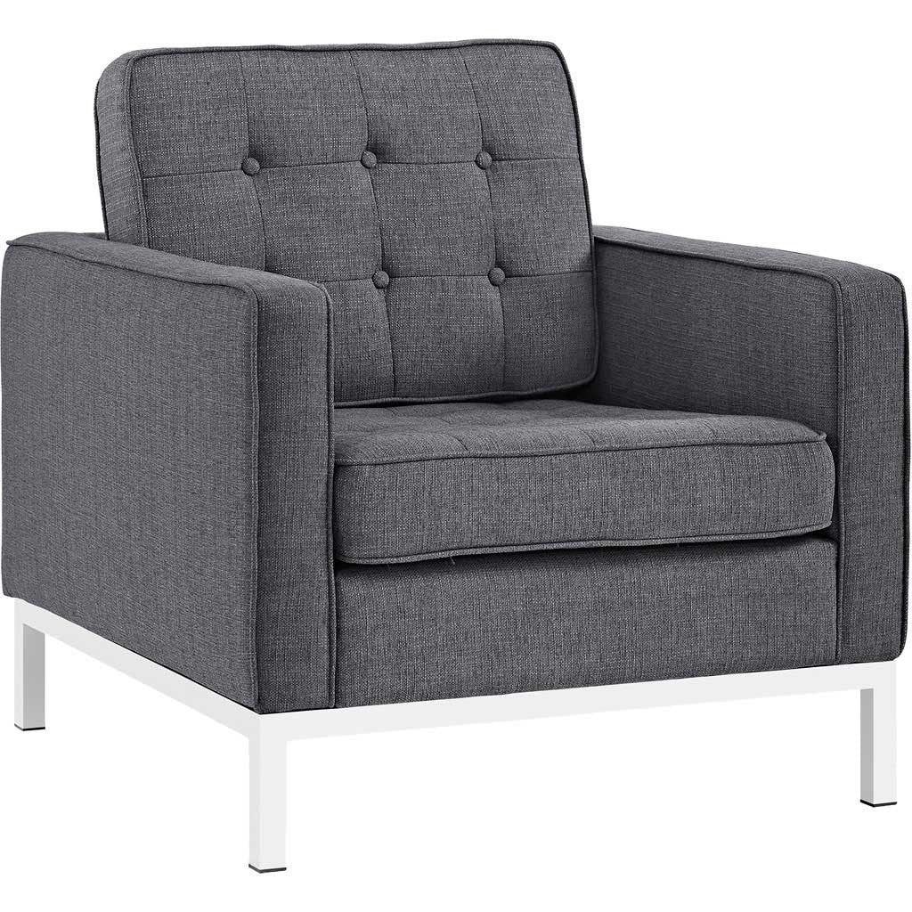 Lyte Fabric Armchair Gray