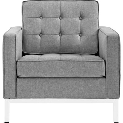 Lyte Fabric Armchair Light Gray