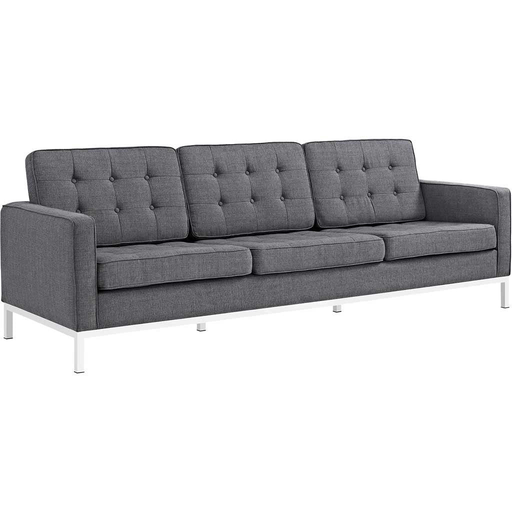 Lyte Fabric Sofa Gray