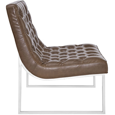 Indiana Memory Foam Lounge Chair Brown