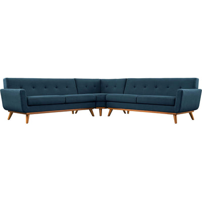 Emory L-Shaped Sectional Sofa Azure
