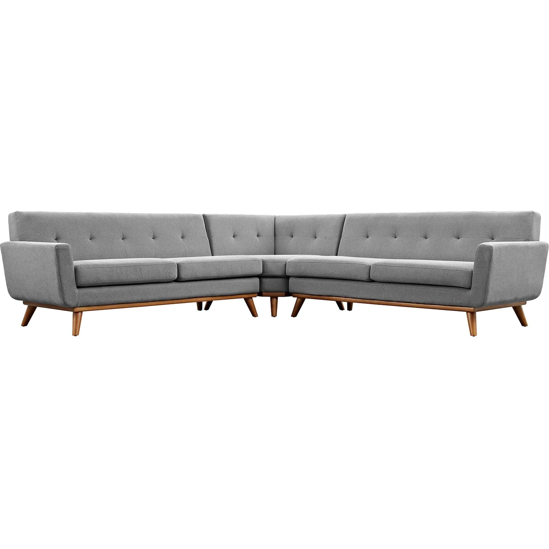 Emory L-Shaped Sectional Sofa Expectation Gray