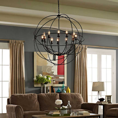 "Atomic 39.5"" Chandelier Brown"