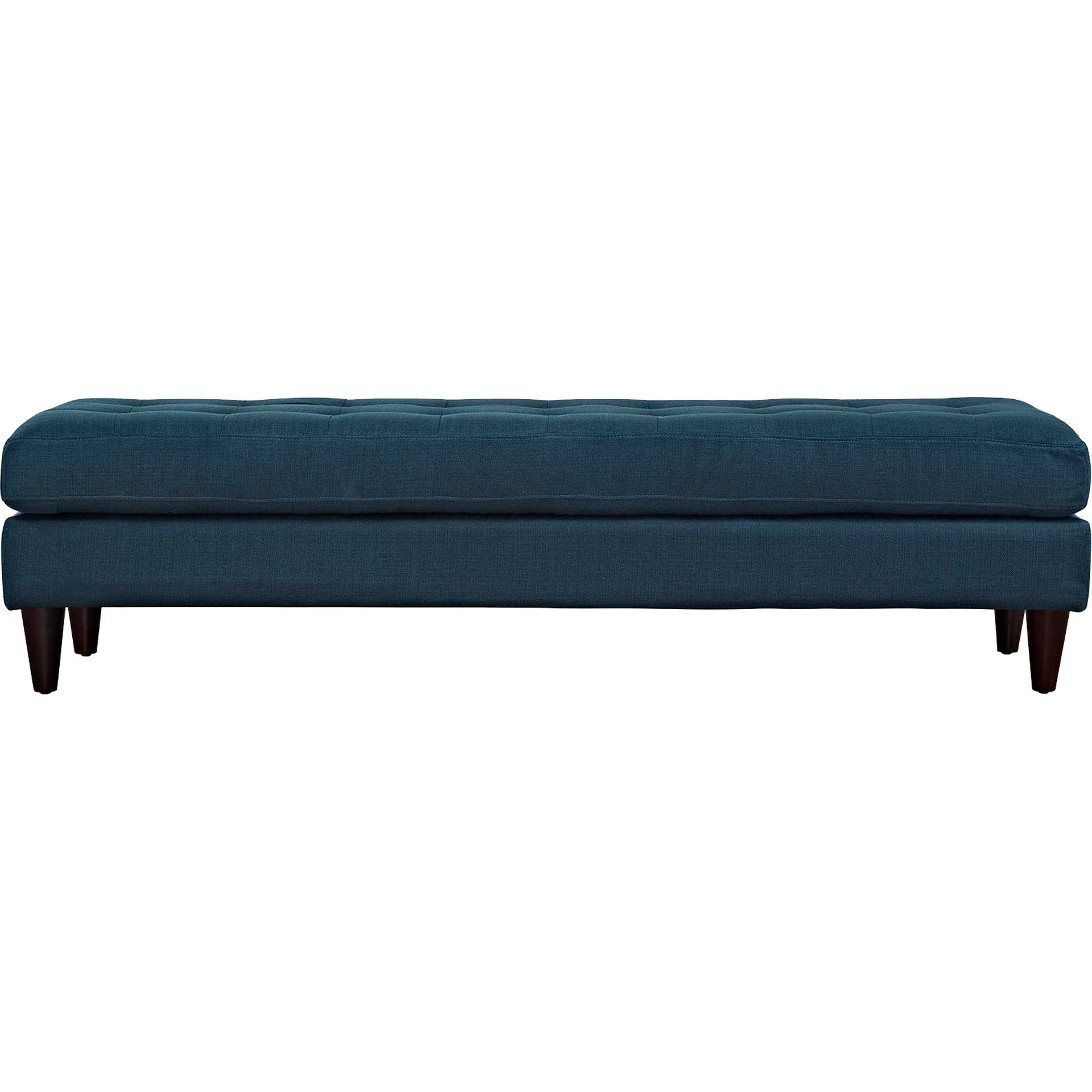 Era Upholstered Fabric Bench Azure