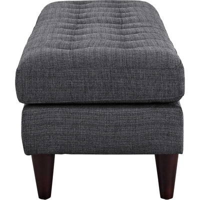 Era Upholstered Fabric Bench Gray
