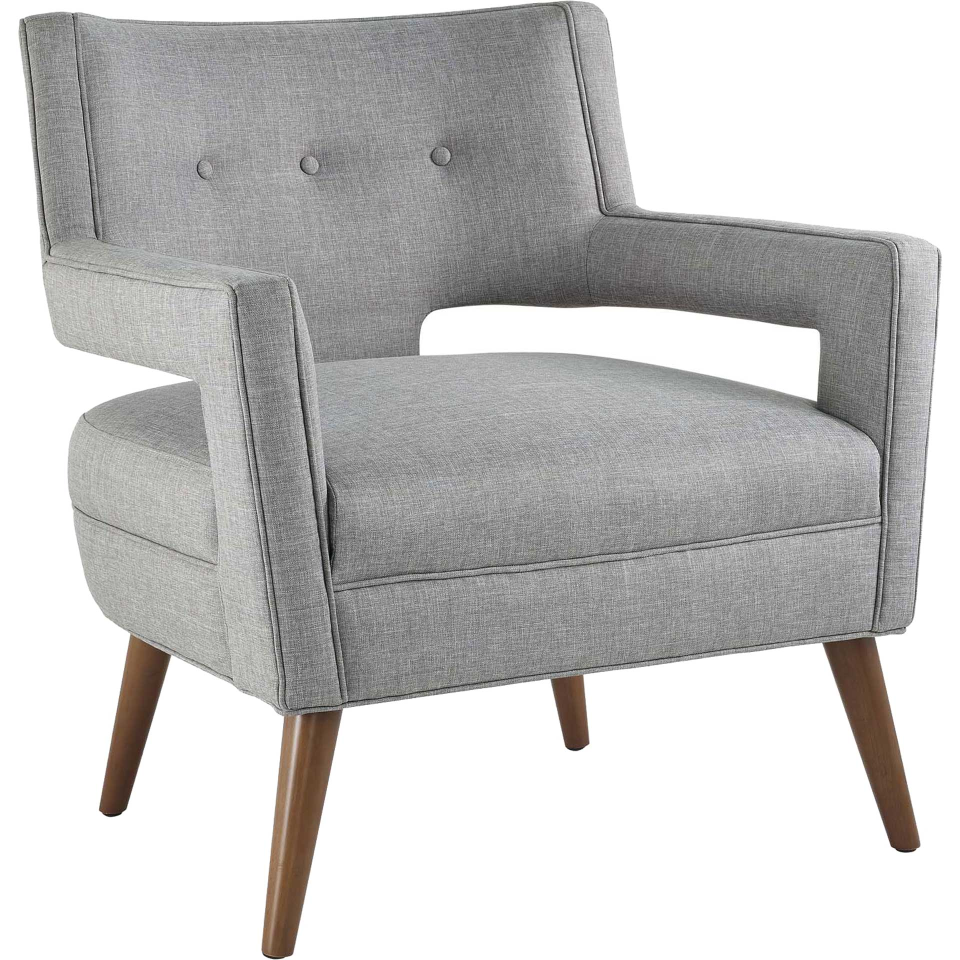 Stanley Upholstered Fabric Armchair Light Gray