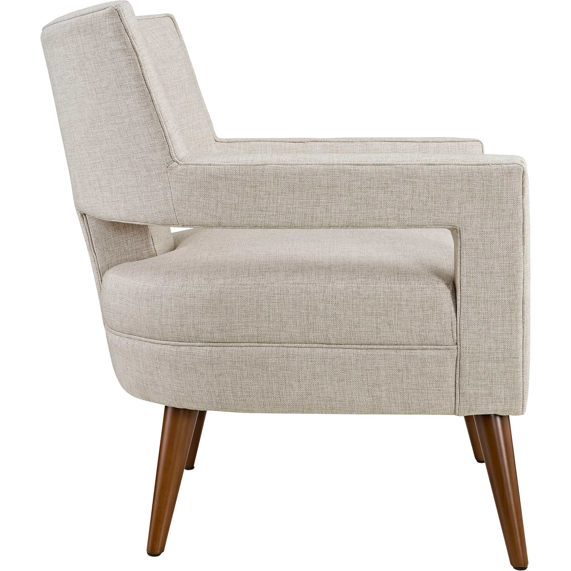 Stanley Upholstered Fabric Armchair Sand