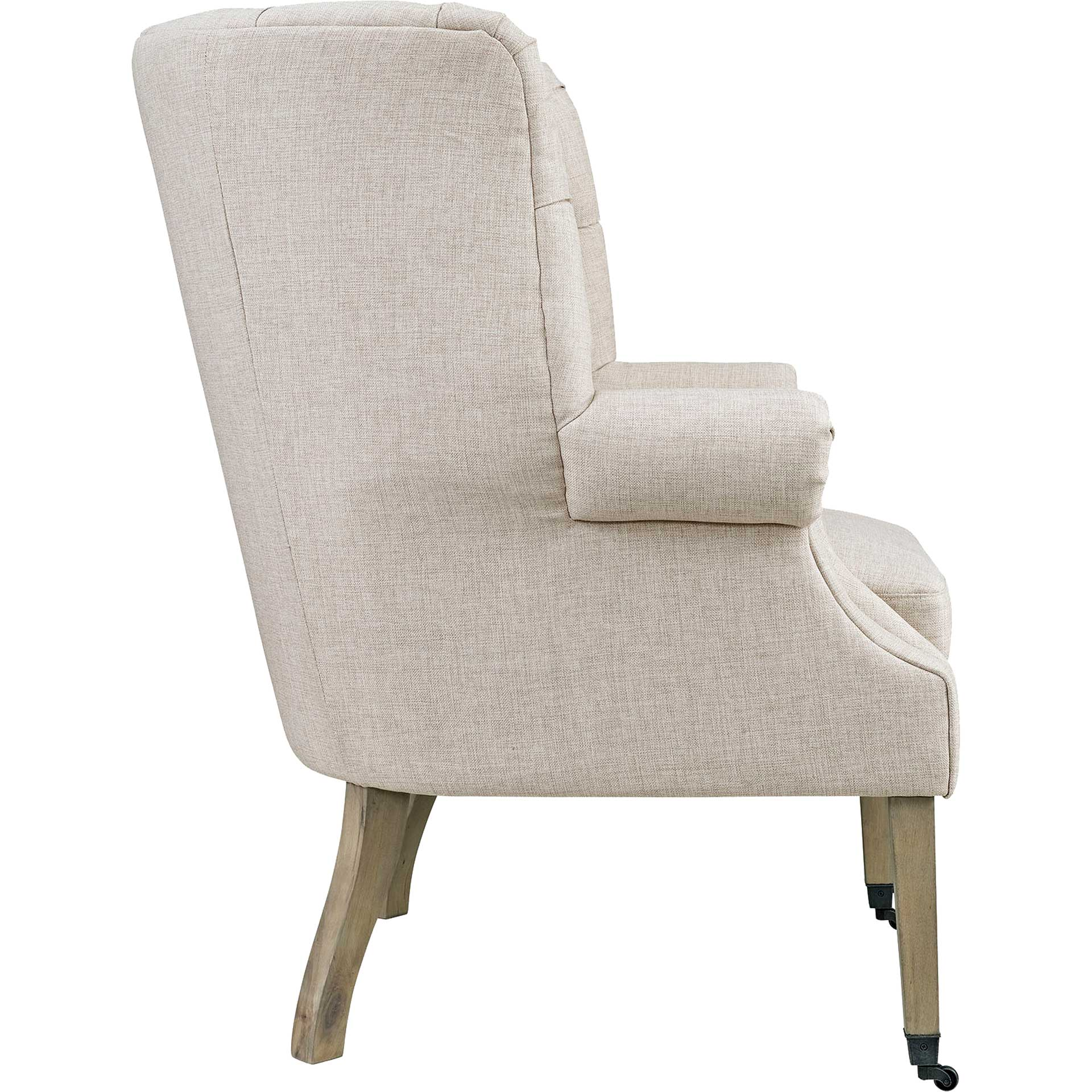 Camron Upholstered Fabric Lounge Chair Sand