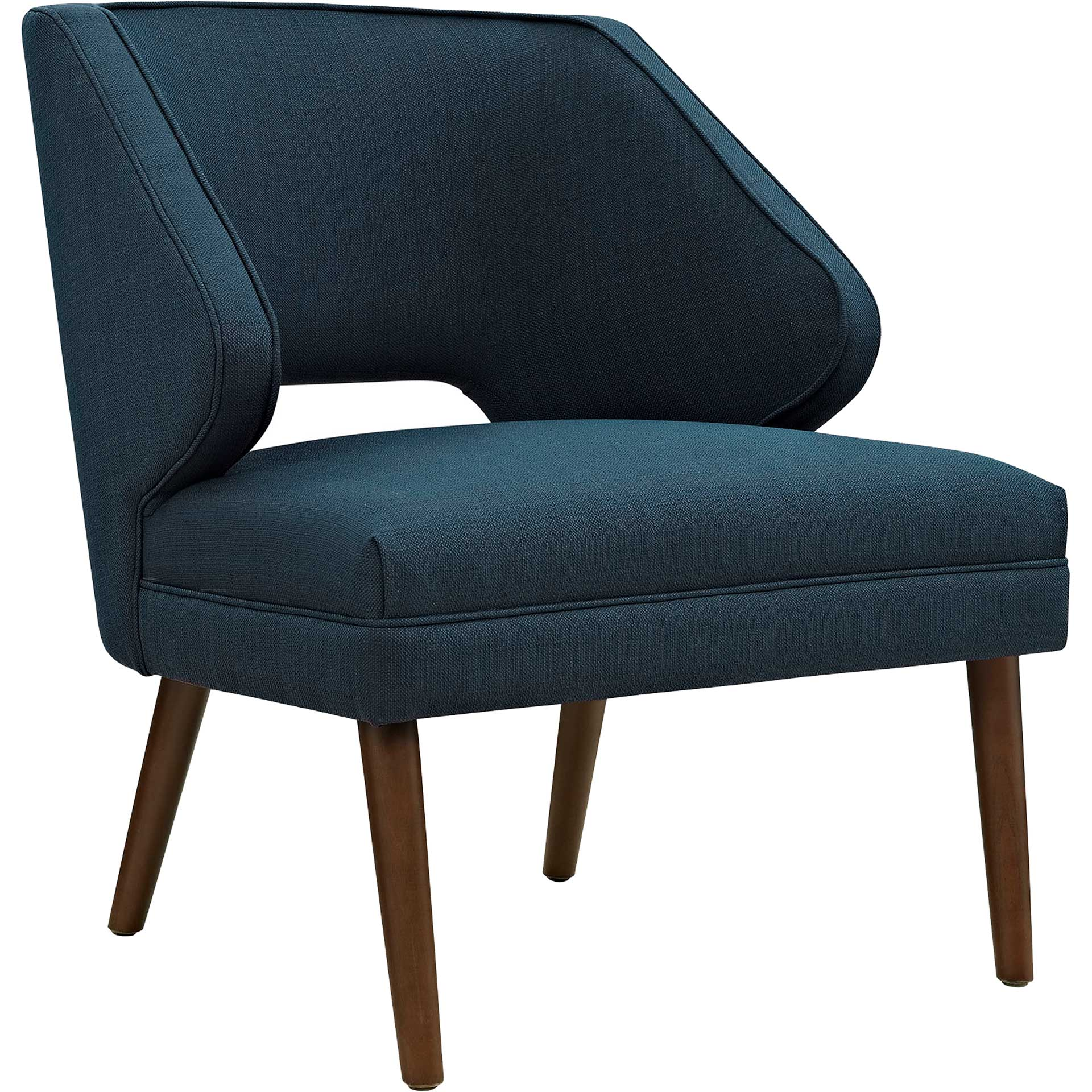 Dawson Upholstered Fabric Armchair Azure
