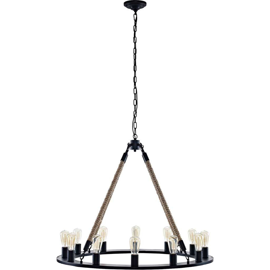 Enthrall Chandelier Brown