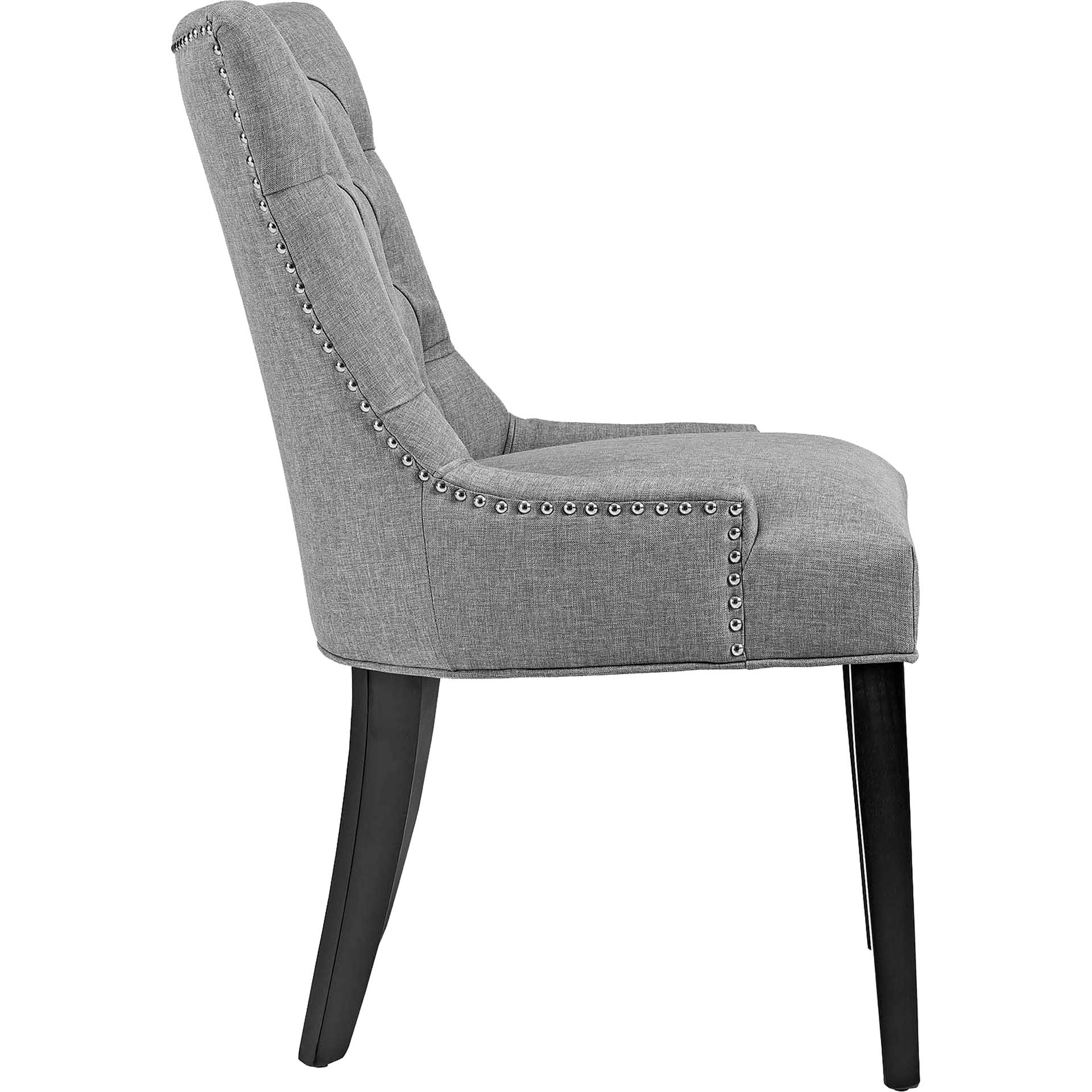 Riley Fabric Dining Chair Light Gray