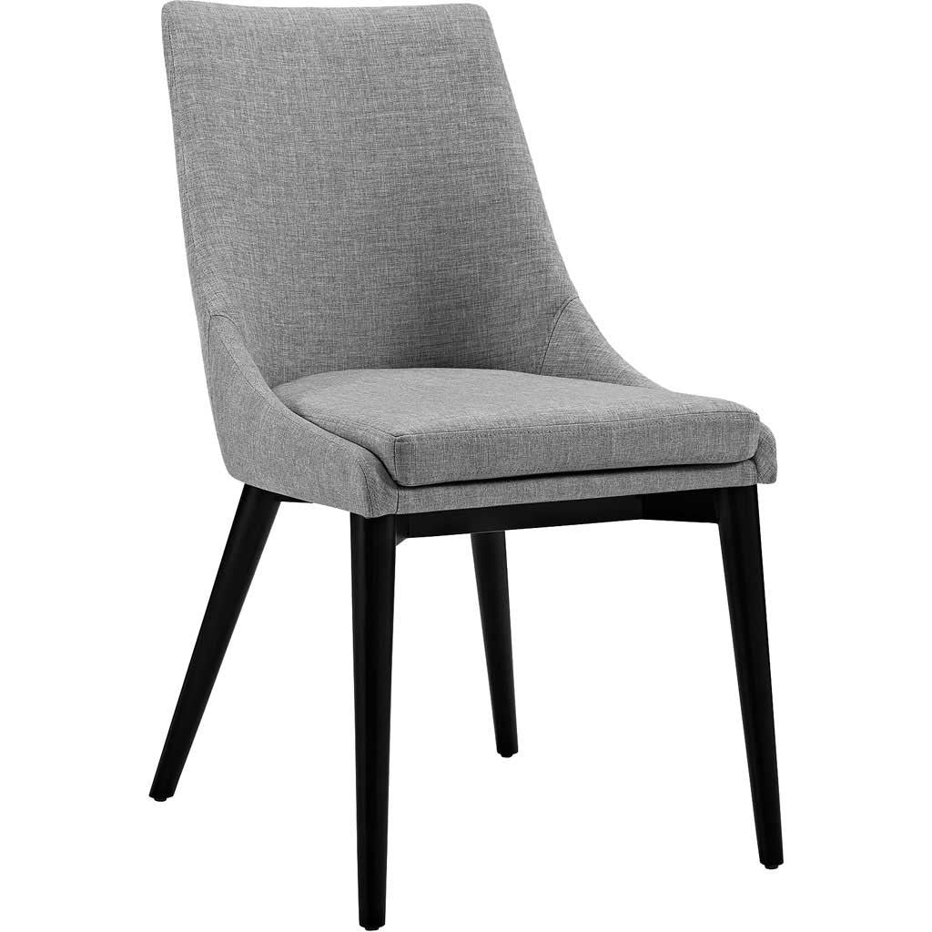 Victoria Fabric Dining Chair Light Gray