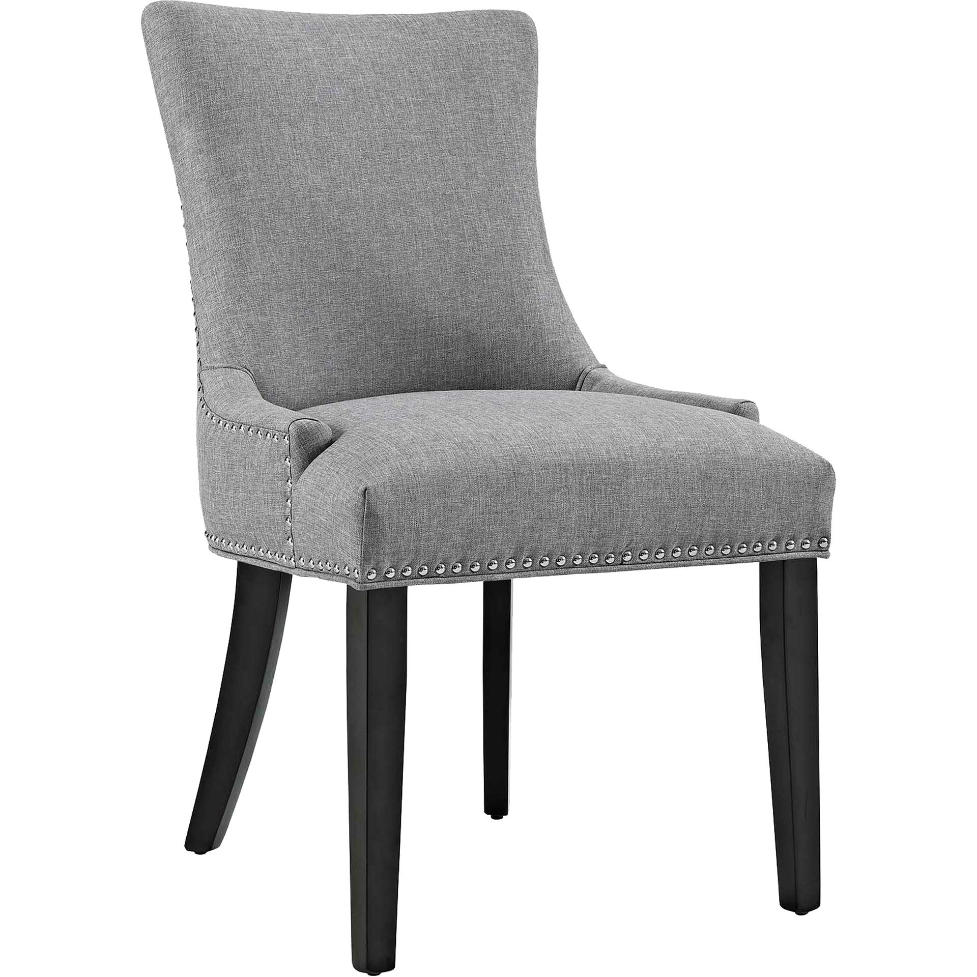 Madison Fabric Dining Chair Light Gray